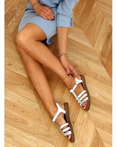 Sandałki damskie białe L-375 WHITE