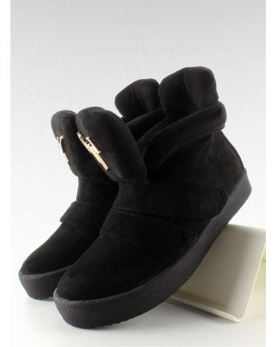 Sneakersy zamsz GF-jx29 Black