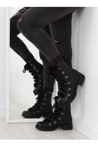 Glany z futerkiem czarne K90 BLACK
