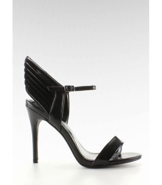 Sandałki na szpilce ze skrzydłami LT65 Black