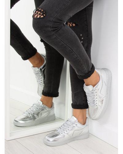 Sportowe buty crazy colours B731 Srebrny
