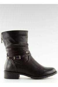 Botki damskie czarne 8232-3 BLACK