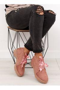 Botki półbuty damskie różowe LL219 PINK