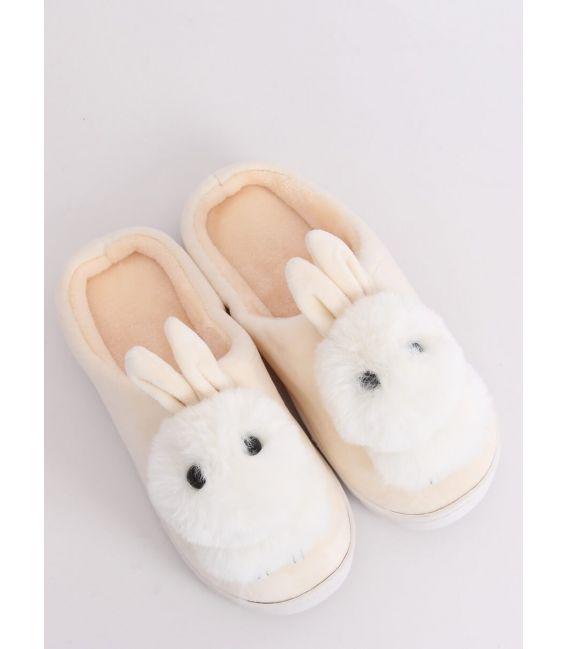 Kapcie damskie króliczki beżowe MA01 BEIGE
