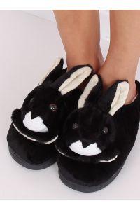 Kapcie damskie króliczki czarne MA17 BLACK