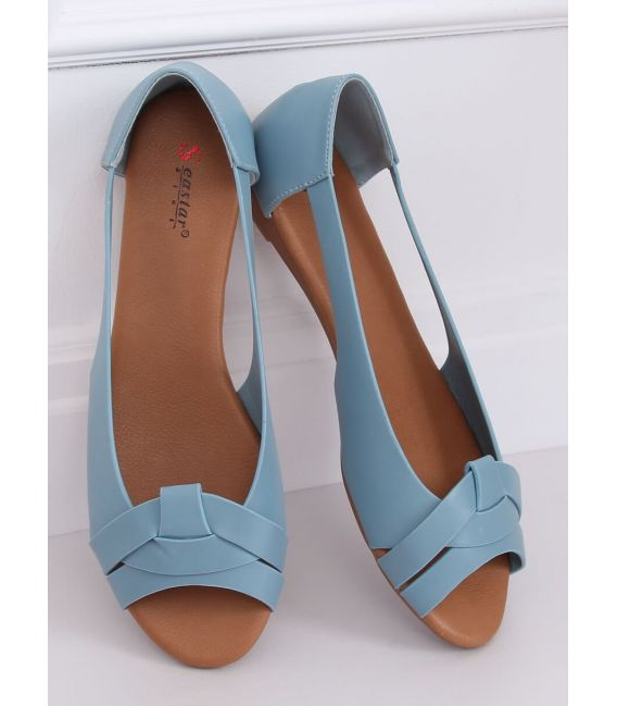 Baleriny wycięte niebieskie CC221P BLUE