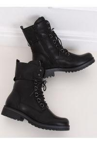 Botki militarne workery czarne BZ66017-KB BLACK