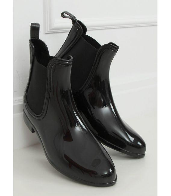 Kalosze damskie sztyblety czarne DC01P BLACK