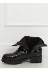 Botki damskie glany czarne 0-368 BLACK