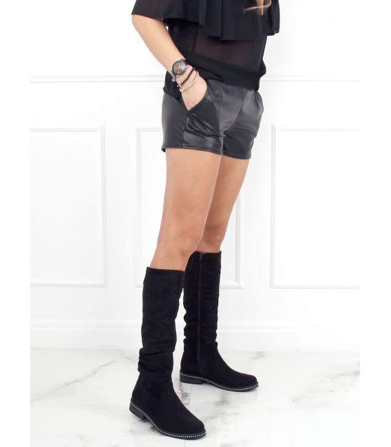 Oficerki zamszowe czarne 1268J16 BLACK
