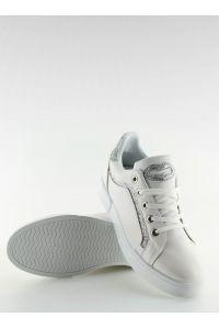 Trampki damskie biało-srebrne BM1972 WHITE/SILVER