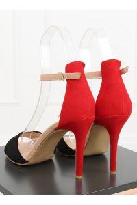 Sandałki na szpilce czarne WD100P BLACK