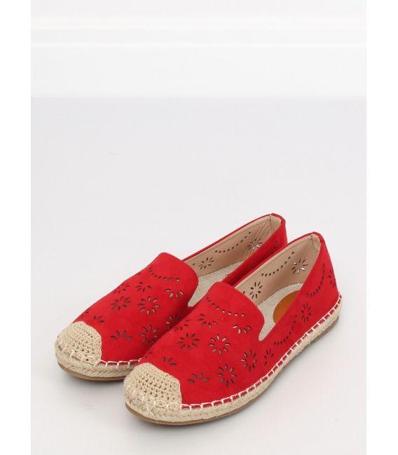 Espadryle ażurowe czerwone 9023 RED