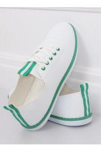 Tenisówki damskie biało-zielone XJ-2918 GREEN
