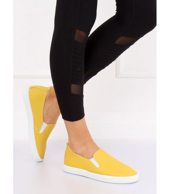 Trampki slip-on żółte WD010-4 YELLOW