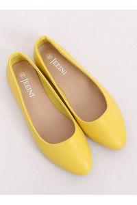 Balerinki gładkie licowe żółte Z1007 YELLOW