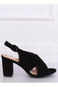 Sandałki na obcasie czarne F1827 BLACK
