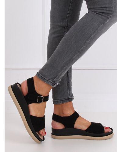 Sandałki damskie czarne YJ860 NERO