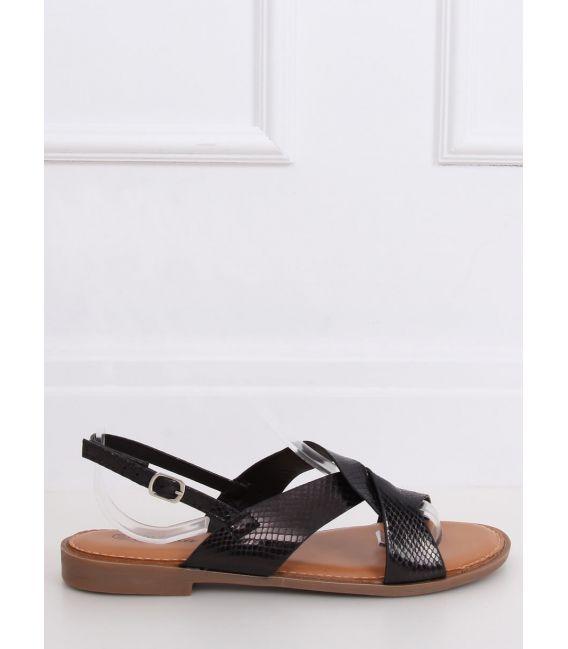 Sandałki damskie czarne 222-31 BLACK