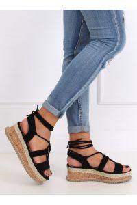 Sandałki espadryle czarne JH116 BLACK