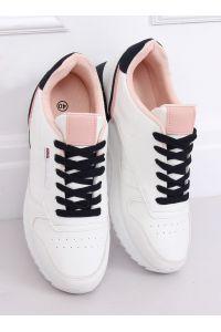 Buty sportowe damskie białe BK938 WHITE/BLUE