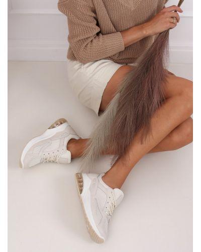 Buty sportowe damskie beżowe 8271-SP BEIGE