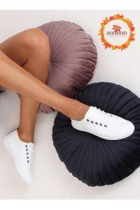 Tenisówki damskie biało-czarne 6165 BLACK