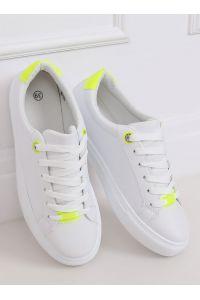 Trampki damskie białe B0-515 WHITE/YELLOW