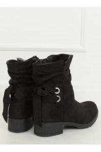 Botki damskie czarne 1212-PA BLACK
