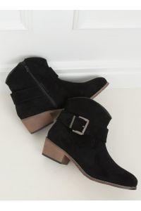 Botki damskie czarne E2251 BLACK
