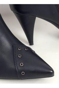 Kozaki na szpilce czarne RB76P BLACK