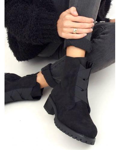 Botki damskie glany czarne 0-367 BLACK
